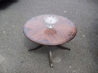 Pretty Mahogany Regency Style Round Coffee Table