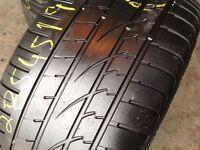 285/45/19 x 2 continental/Runflat part worn tyres