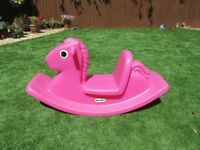 LITTLE TIKES PINK ROCKER - great for outdoor play in the summer!