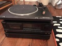 Technics SL-B210 turntable radio tape player