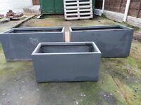 polystone grey planters.