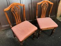 6 x Ducal dining chairs.
