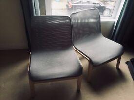 2 Armchairs NOLMYRA (IKEA) Birch veneer/grey