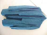 Long Blue White Fleck Coat Cardigan - Size 20
