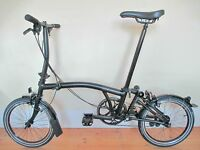 New & Boxed (2017) Black Limited Edition Brompton Folding Bike With Accessories