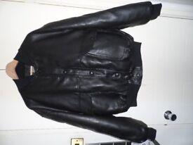 Designer Leather Jacket - Men's famous Designer Vintage Gruppo V Italian Leather Jacket