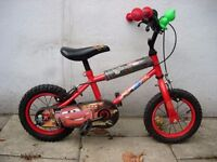 "Kids Bike by Disney, Red, 12 1/2 "" Wheels Great for Kids 3+ Years JUST SERVICED / CHEAP PRICE!!!!!!"