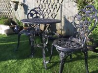 Garden Bistro Set of Table And Chairs