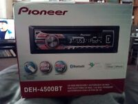 Pioneer car stereo Bluetooth and MP3