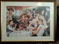 Lunch on the party boat / large quality Ltd edit / 70 x 90 width