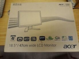 """Acer X193HQL 18.5"""" Widescreen LCD Monitor (new in box)"""
