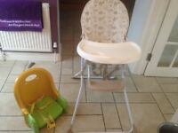 free childs highchair and older childs chair