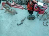 Merry tiller 5hp rotovator with plough and tools