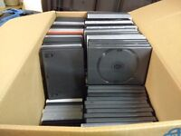 DVD cases - 150 empty, free to uplift