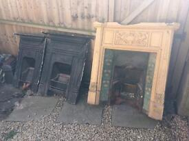3 Victorian Cast Iron Fireplaces