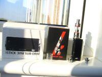 Eleaf ISTICK 30W SUB OHM & KangerTech Subtank Nano USED but VGC.