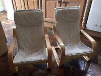 Pair of Children's IKEA POANG armchairs