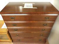 [SLC1/145] Great quality large chest of mahogany effect drawers W 94cm x B 48cm x H 100cm