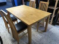 Dining room table with 4 chairs- great condition