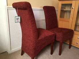 Pair of quality Unused dining chairs