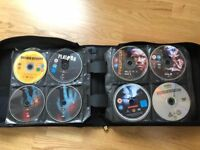 159 DVD Movies & DVD wallet (holds 264 DVDs) - £120 ono.
