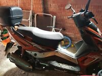 125cc moped with box