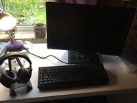 MONITOR SOLD, Razer Kraken 7.1 surround sound headset, Razer Blackwidow mechanical key