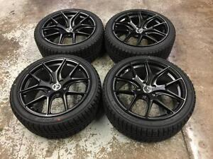 "18"" Mercedes Black Wheels 5x112 and Winter Tires 225/40R18 (Mercedes C300/C350/C250) Calgary Alberta Preview"