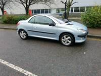 PEUGEOT 206 2003 COUPE CONVERTIBLE. STUNNING ALL ROUND. PERFECT DRIVE. TAX & GREAT MOT