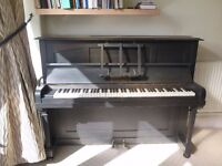 Black Upright Piano (and Stall) for Sale