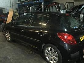 Peugeot 207 breaking 2007 black 5 door all parts available can post