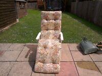 Garden chair recliner comfortable cushion