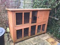 Rabbit hutch- large- two storey