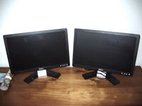 """Pair of 17"""" widescreen Dell E178WFPc monitors £20 the pair"""