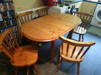 Pine table 6 chairs
