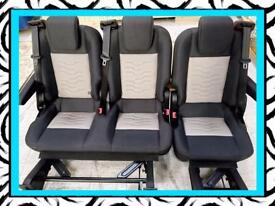 FORD TRANSIT CUSTOM REAR SEATS ALSO FITS VW T5 TRANSPORTER
