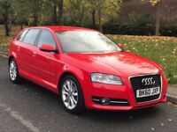 2010 Red Audi A3 2.0 TDI Sport Sportback 5dr Hatchback Manual Diesel
