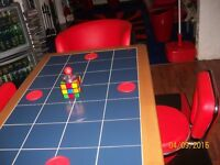 Tiled table no chairs