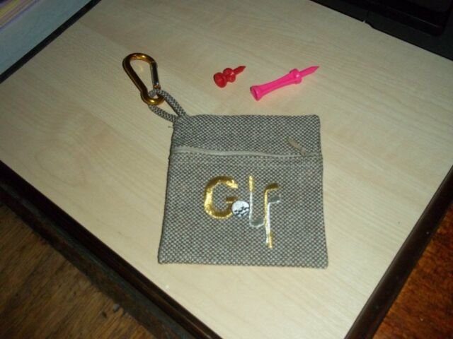 9635928770a0 Golf  Tee  purses with  Golf  embroidered on x 2