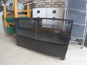 Black timber veneer TV stand, drawer and 2 glass doors Alexandra Hills Redland Area Preview