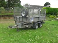 2011 ifor williams tt105 tipper trailer in very good condition all round