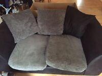 2 seater fabric settee