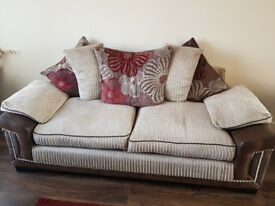 Selling 1 x 3 piece sofa, 1 x 2 piece sofa and 1 x rug - great condition