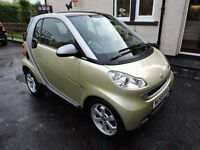 2009 smart fortwo passion mhd auto low miles,mot july 2017