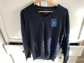 Gant large cotton blue jumper brand new with tag