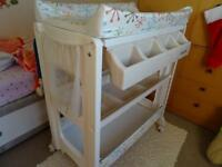Baby changing table with bath and plentystorage