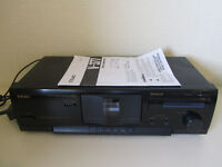 TEAC V-377 tape deck, stereo Hi-Fi, black