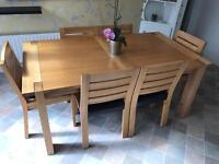 Oak Dining Table & 6 Chair