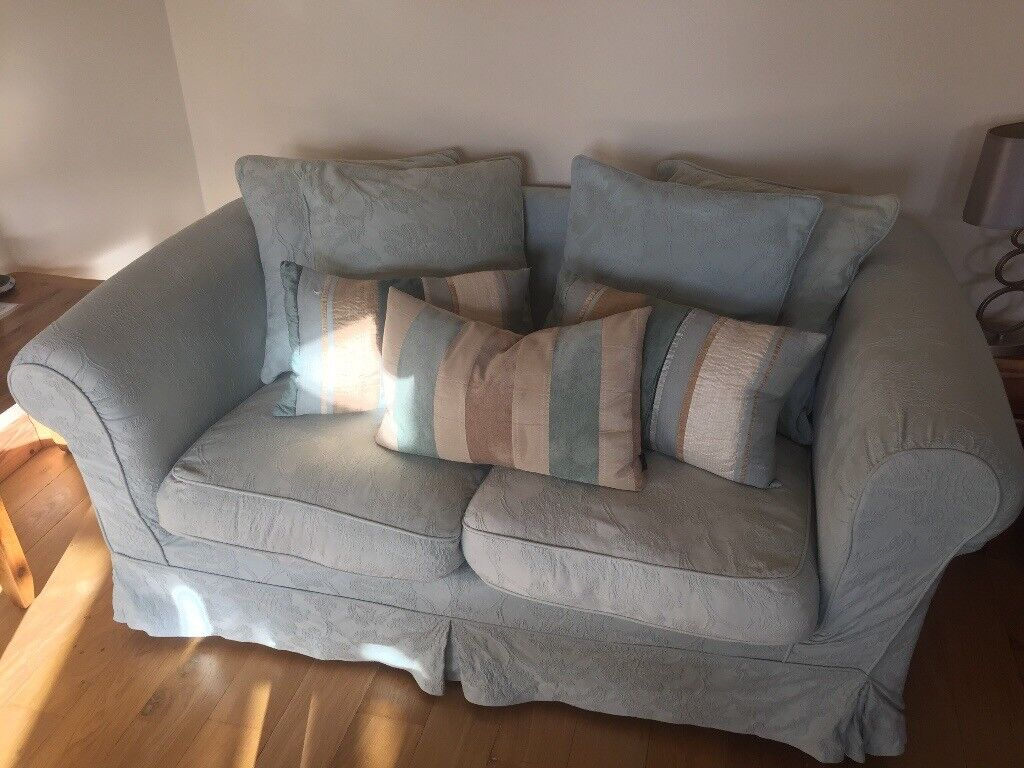 1 Seater Plus 2 Seaters Duckegg Blue Sofas Removable
