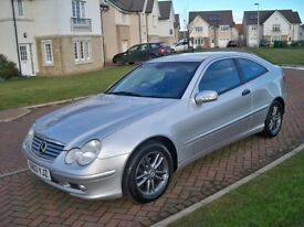 **** ONLY 57 K MILES ****£1695**** MERCEDES C200 COUPE KOMPRESSOR AUTOMATIC JUST SERVICED LONG MOT